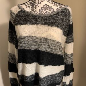 Bar III black, white, and gray sweater size L